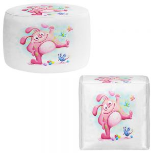 Round and Square Ottoman Foot Stools | Tooshtoosh - Piki Piki Bunny