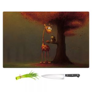 Artistic Kitchen Bar Cutting Boards | Tooshtoosh - Autumn Giraffe