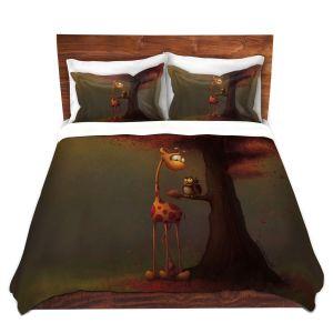 Artistic Duvet Covers and Shams Bedding | Tooshtoosh - Autumn Giraffe