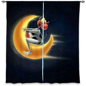 Decorative Window Treatments | Tooshtoosh - Crazy Moon Cow
