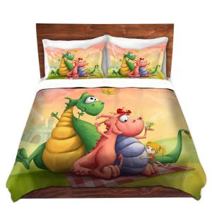 Artistic Duvet Covers and Shams Bedding | Tooshtoosh - Dragon Picnic