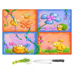Artistic Kitchen Bar Cutting Boards | Tooshtoosh - Flowery
