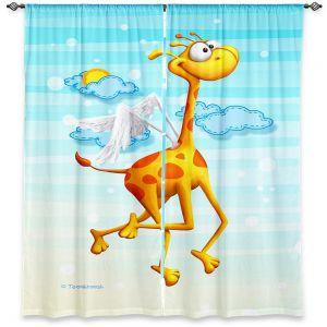 Decorative Window Treatments | Tooshtoosh Fly Giraffe Fly