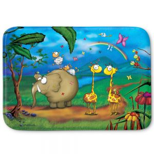 Decorative Bath Mat Small from DiaNoche Designs by Tooshtoosh - Jungle Party