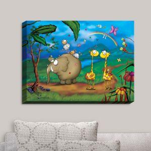 Decorative Canvas Wall Art | Tooshtoosh - Jungle Party