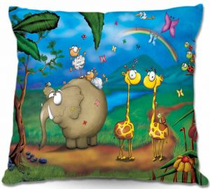 Decorative Outdoor Patio Pillow Cushion | Tooshtoosh - Jungle Party