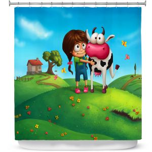 Unique Shower Curtain from DiaNoche Designs by Tooshtoosh - My Moo