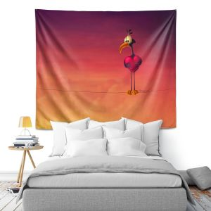 Artistic Wall Tapestry | Tooshtoosh - Only One Bird