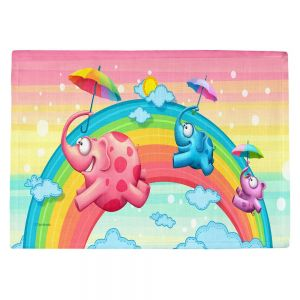 Countertop Place Mats   Tooshtoosh's Rainbow Elephants