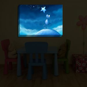 Unique Illuminated Wall Art 24 x 13 from DiaNoche Designs by Tooshtoosh - Reach for a Star