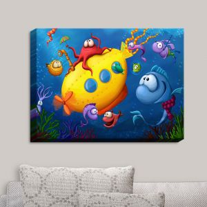 Decorative Canvas Wall Art | Tooshtoosh - Sea Life