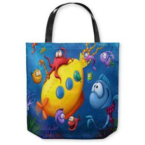 Unique Shoulder Bag Tote Bags | Tooshtoosh Sea Life