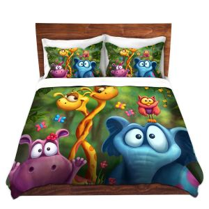 Artistic Duvet Covers and Shams Bedding | Tooshtoosh - Shangagle Boogie