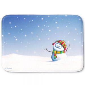 Decorative Bathroom Mats   Tooshtoosh - Snowman