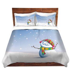 Artistic Duvet Covers and Shams Bedding | Tooshtoosh - Snowman