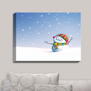 Decorative Canvas Wall Art | Tooshtoosh - Snowman