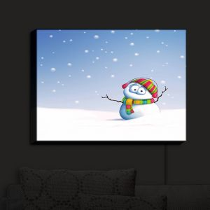 Nightlight Sconce Canvas Light | Tooshtoosh's Snowman