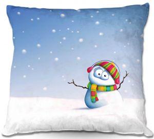 Throw Pillows Decorative Artistic   Tooshtoosh Snowman