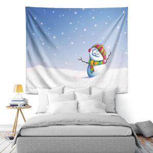 Artistic Wall Tapestry | Tooshtoosh Snowman