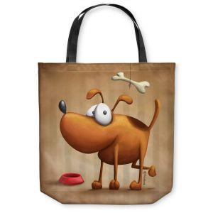 Unique Shoulder Bag Tote Bags   Tooshtoosh The Dog II