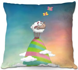 Decorative Outdoor Patio Pillow Cushion | Tooshtoosh - Willo Sheep