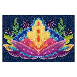 Decorative Floor Covering Mats | Noonday Design - Bright Floral | psychedelic flower
