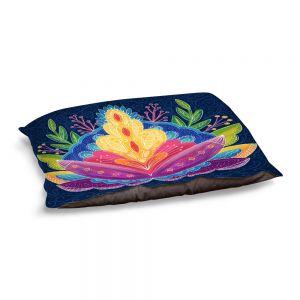 Decorative Dog Pet Beds   Noonday Design - Bright Floral   psychedelic flower