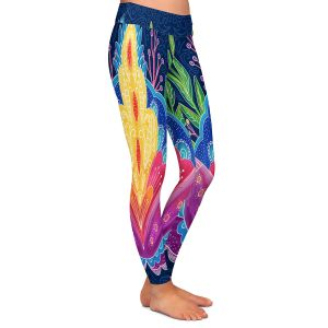 Casual Comfortable Leggings | Noonday Design - Bright Floral | psychedelic flower