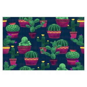 Decorative Floor Covering Mats | Noonday Design - Cacti | Cactus Pattern