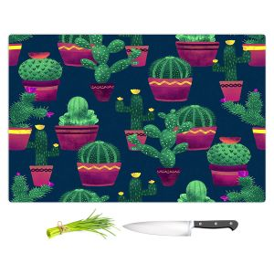 Artistic Kitchen Bar Cutting Boards   Noonday Design - Cacti   Cactus Pattern