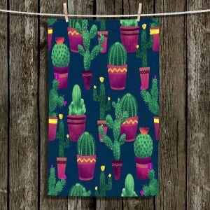 Unique Bathroom Towels   Noonday Design - Cacti   Cactus Pattern