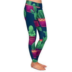 Casual Comfortable Leggings | Noonday Design - Cacti | Cactus Pattern