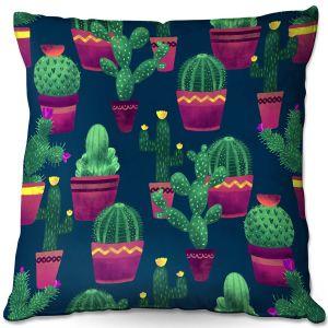 Throw Pillows Decorative Artistic   Noonday Design - Cacti   Cactus Pattern