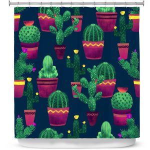 Premium Shower Curtains | Noonday Design - Cacti | Cactus Pattern