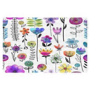 Decorative Floor Covering Mats | Noonday Design - Colorful Garden | Flower Floral Pattern