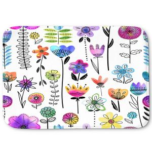 Decorative Bathroom Mats | Noonday Design - Colorful Garden | Flower Floral Pattern