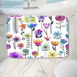 Decorative Bathroom Mats | Noonday Design - Colorful Garden | Flower Floral Pattern