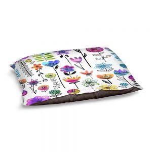 Decorative Dog Pet Beds | Noonday Design - Colorful Garden | Flower Floral Pattern
