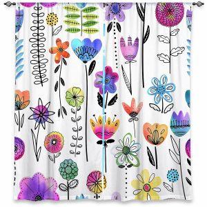 Decorative Window Treatments | Noonday Design - Colorful Garden | Flower Floral Pattern