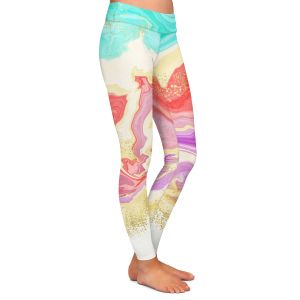 Casual Comfortable Leggings   Noonday Design - Colorful Marble   Colorful Abstract