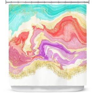 Premium Shower Curtains | Noonday Design - Colorful Marble | Colorful Abstract