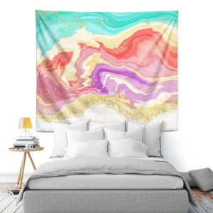 Artistic Wall Tapestry | Noonday Design - Colorful Marble | Colorful Abstract
