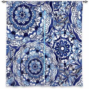 Decorative Window Treatments | Noonday Design - Delft Blue Mandalas | Colorful Mandala