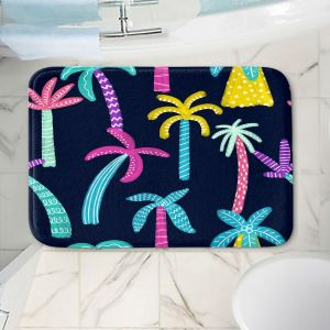 Decorative Bathroom Mats | Noonday Design - Neon trees | Palm Trees Psychedelic