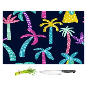 Artistic Kitchen Bar Cutting Boards   Noonday Design - Neon trees   Palm Trees Psychedelic