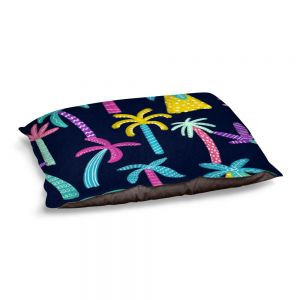 Decorative Dog Pet Beds | Noonday Design - Neon trees | Palm Trees Psychedelic