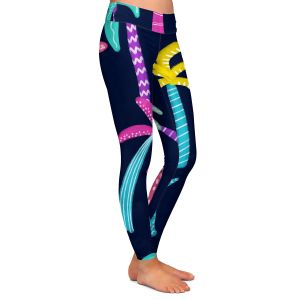Casual Comfortable Leggings | Noonday Design - Neon trees | Palm Trees Psychedelic