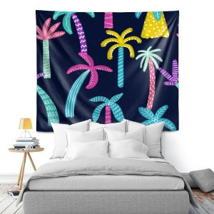 Artistic Wall Tapestry | Noonday Design - Neon trees | Palm Trees Psychedelic