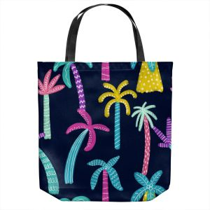 Unique Shoulder Bag Tote Bags | Noonday Design - Neon trees | Palm Trees Psychedelic