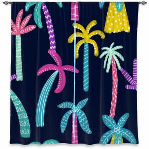 Decorative Window Treatments | Noonday Design - Neon trees | Palm Trees Psychedelic